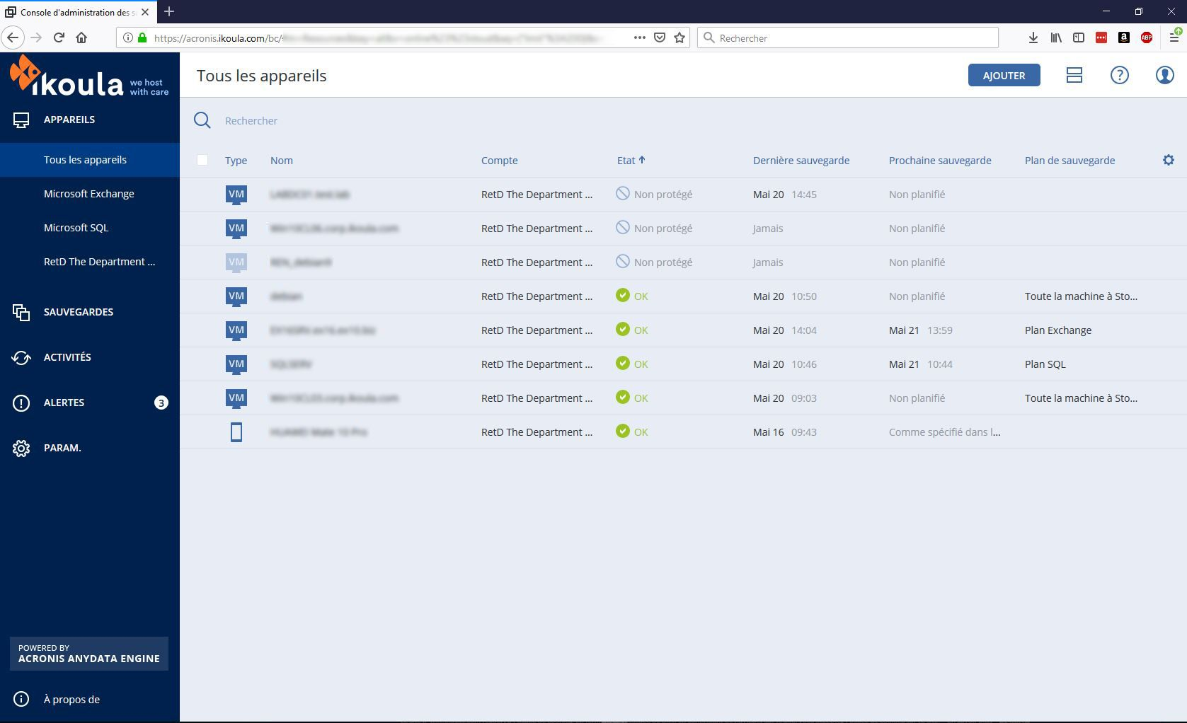Copie de rezervă Cloud Acronis